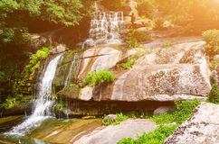 Big waterfall on the rocks Royalty Free Stock Photography