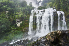 Big waterfall, Tad kamud, in the bolaven plateau. Laos Royalty Free Stock Photo