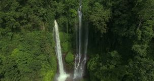 Big waterfall in tropical jungle stock footage