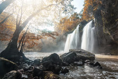 Big waterfalls in Thailand. Big waterfalls in Autumn in the central part of Thailand stock photo
