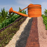 Big watering can show in Agricultural Exhibition Royalty Free Stock Photography