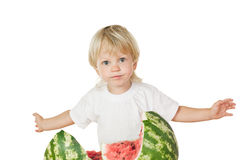About  big watermelon Royalty Free Stock Image