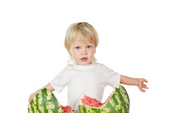 About  big watermelon Royalty Free Stock Photos
