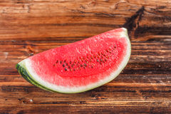 Big watermelon slice Stock Photos