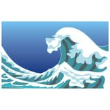 Big wave. Art illustration of a sea and a big wave Royalty Free Stock Photography