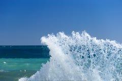 A big wave. Splash over pier Royalty Free Stock Image