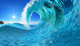 Big Wave background Royalty Free Stock Image