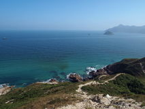 Big Wave Bay coastline, Hong Kong Royalty Free Stock Photography