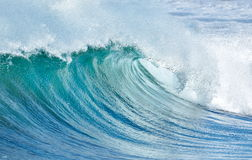 Big wave breaking at shore in summer Royalty Free Stock Images