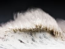 Big wave breaking on windy day Royalty Free Stock Photography