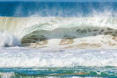 Big wave that breaks on the coast stock photo