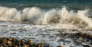 Big wave on the coast of the Black Sea. Big wave on the beach Stock Photography