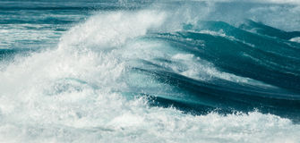 Big wave at hookipa beach maui hawaii Stock Photography