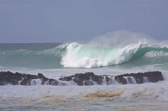 Big Wave, North Shore Oahu, Hawaii Stock Image
