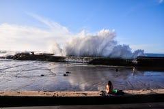 BIg Wave in the Ocean Stock Photo