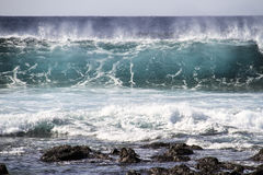 Big wave in the ocean Stock Images
