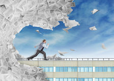 Big wave of paperwork Stock Photo