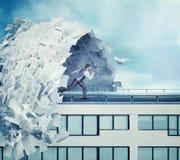 Big wave of paperwork Stock Photos
