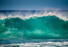 Big wave. A big and powerful wave breaking near the shore at Lanzarote, Canary Islands, Spain Stock Photography
