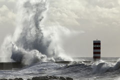 Big wave splash Stock Photo