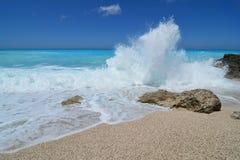 Big wave and splash Stock Images