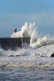 Big wave in a sunny day Stock Photos