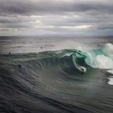 Big wave surfer royalty free stock image