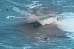 Big wave surfer royalty free stock images