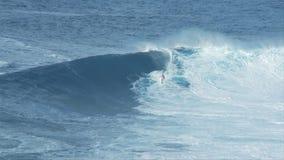 Big Wave Surfers at Jaws, Maui Hawaii - Clip 6 stock video footage