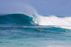 Big Wave Surfing Royalty Free Stock Images