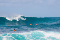Big Wave Surfing Stock Photography