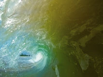 Big wave - view from the inside Stock Photography