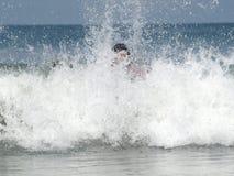 Big Waves. Face Big Waves in life Stock Photos
