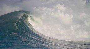 Big waves. In stormy sea Royalty Free Stock Images