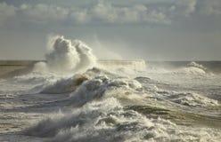 Big waves splash Stock Photo