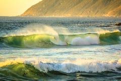 Big waves Atlantic coast stock photography
