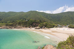 Big waves beach in Hong Kong. Big waves beach is part of Shek O country park in Hong Kong island. This is the end of the very popular Dragon's Back Trail Stock Image