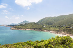 Big waves beach in Hong Kong. Big waves beach is part of Shek O country park in Hong Kong island. This is the end of the very popular Dragon's Back Trail Royalty Free Stock Images