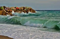 Big waves in Catanzaro Lido Stock Photography