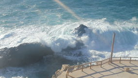 Big waves chrushing on Canary Island stock video