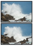 Big waves crashing down Stock Image