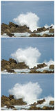 Big waves crashing down Royalty Free Stock Images