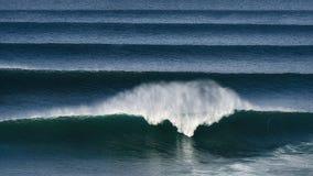 Big waves crashing. On the sea royalty free stock photo