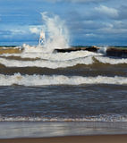 Big Waves at Grand Marais Royalty Free Stock Photo