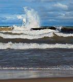 Big Waves at Grand Marais Royalty Free Stock Photo