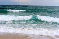 Big waves in greece Stock Photography