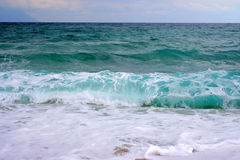Big waves in greece Royalty Free Stock Images