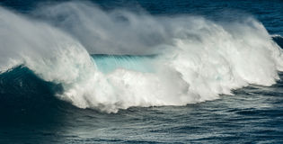Big waves jaws maui hawaii Stock Image
