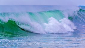 Big waves on the mediterranean ocean in Costa Brava of Spain.  Royalty Free Stock Photography