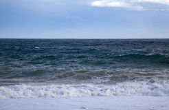Big Waves from Mediterranean Sea Stock Photo